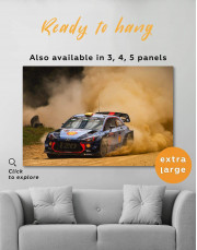 Hyundai i20 WRC in a Golden Dust Canvas Wall Art - Image 0