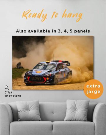 Hyundai i20 WRC in a Golden Dust Canvas Wall Art