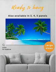 Tropical Seascape Canvas Wall Art - Image 0