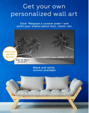 Tropical Seascape Canvas Wall Art - Image 1
