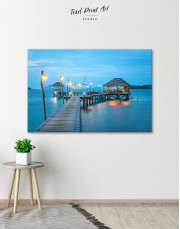 Beach Bungalow Canvas Wall Art - Image 0