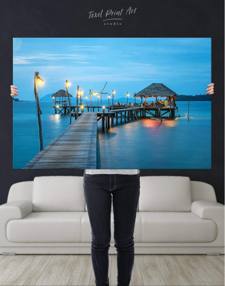 Beach Bungalow Canvas Wall Art - Image 4