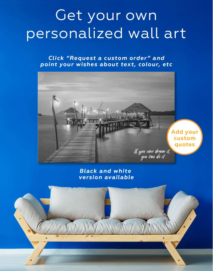 Beach Bungalow Canvas Wall Art - Image 1