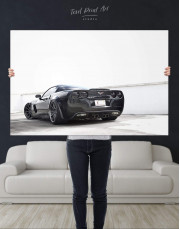 Black Chevrolet Corvette Z06 Canvas Wall Art - Image 2