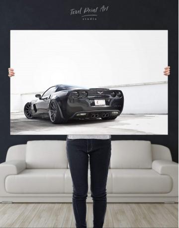 Black Chevrolet Corvette Z06 Canvas Wall Art - image 2