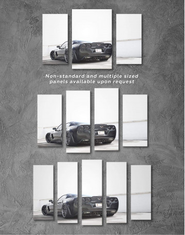 Black Chevrolet Corvette Z06 Canvas Wall Art - image 4