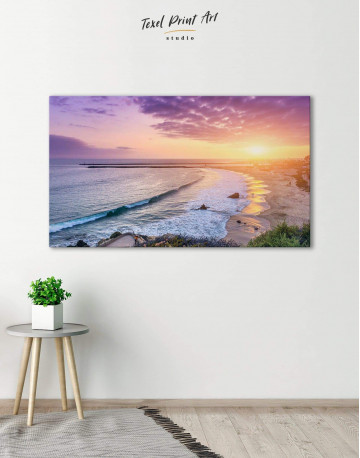Sea Sunset Canvas Wall Art