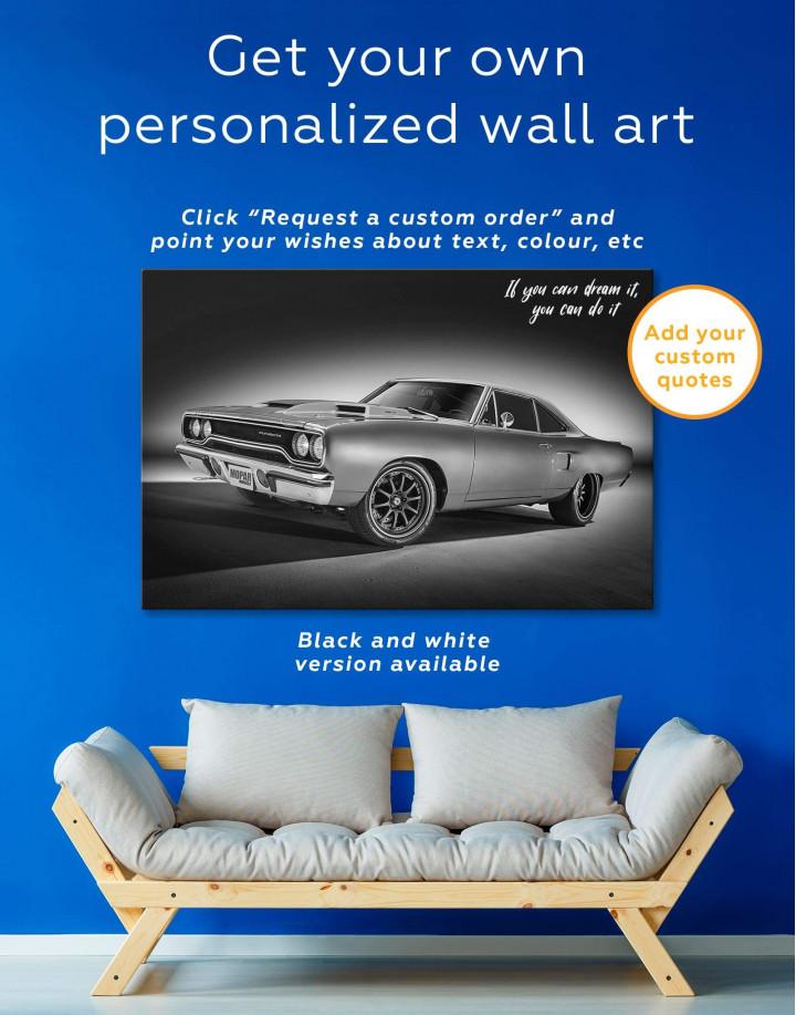 Plymouth Hemi Roadrunner Pro Touring Canvas Wall Art - Image 5