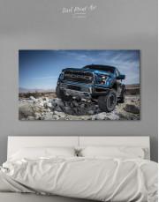 Blue Ford F-150 Raptor Canvas Wall Art
