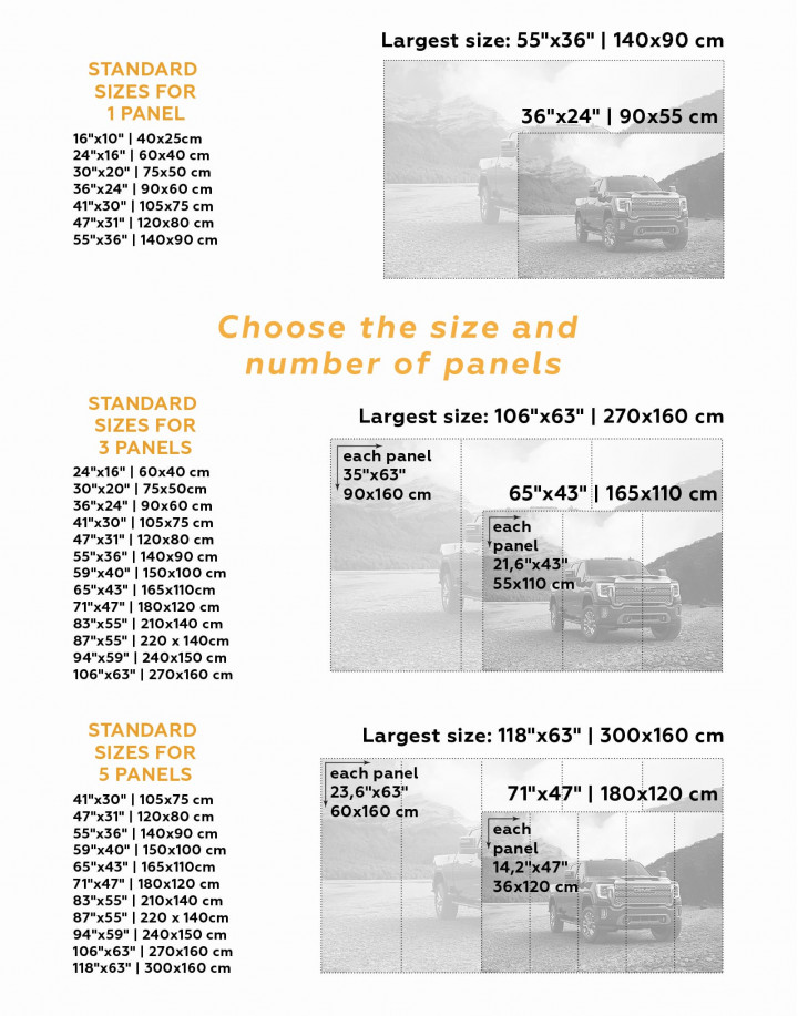 2020 GMC Sierra Heavy Duty Canvas Wall Art - Image 3