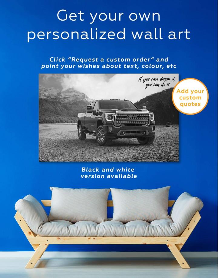 2020 GMC Sierra Heavy Duty Canvas Wall Art - Image 1
