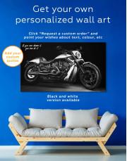Harley Davidson V-Rod Muscle Canvas Wall Art - Image 1