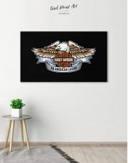 Harley Davidson Logo Canvas Wall Art