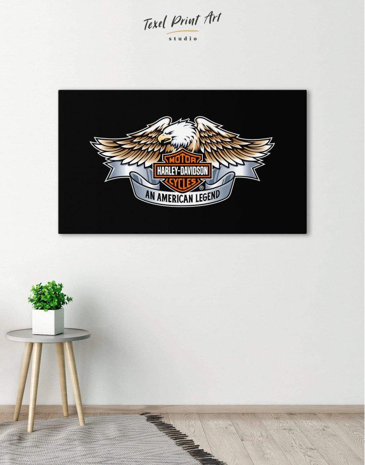 Harley Davidson Logo Canvas Wall Art - Image 0