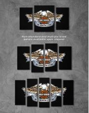 Harley Davidson Logo Canvas Wall Art - Image 2