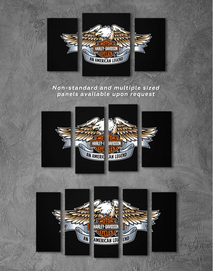 Harley Davidson Logo Canvas Wall Art - Image 2