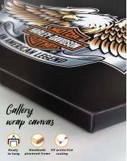 Harley Davidson Logo Canvas Wall Art - Image 5