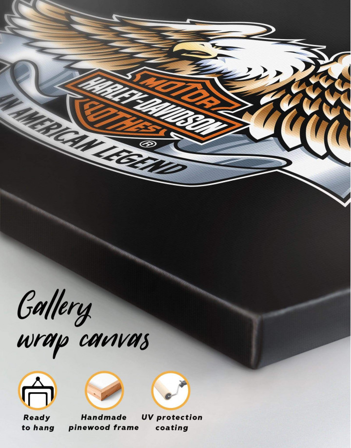 Harley Davidson Logo Canvas Wall Art - Image 5