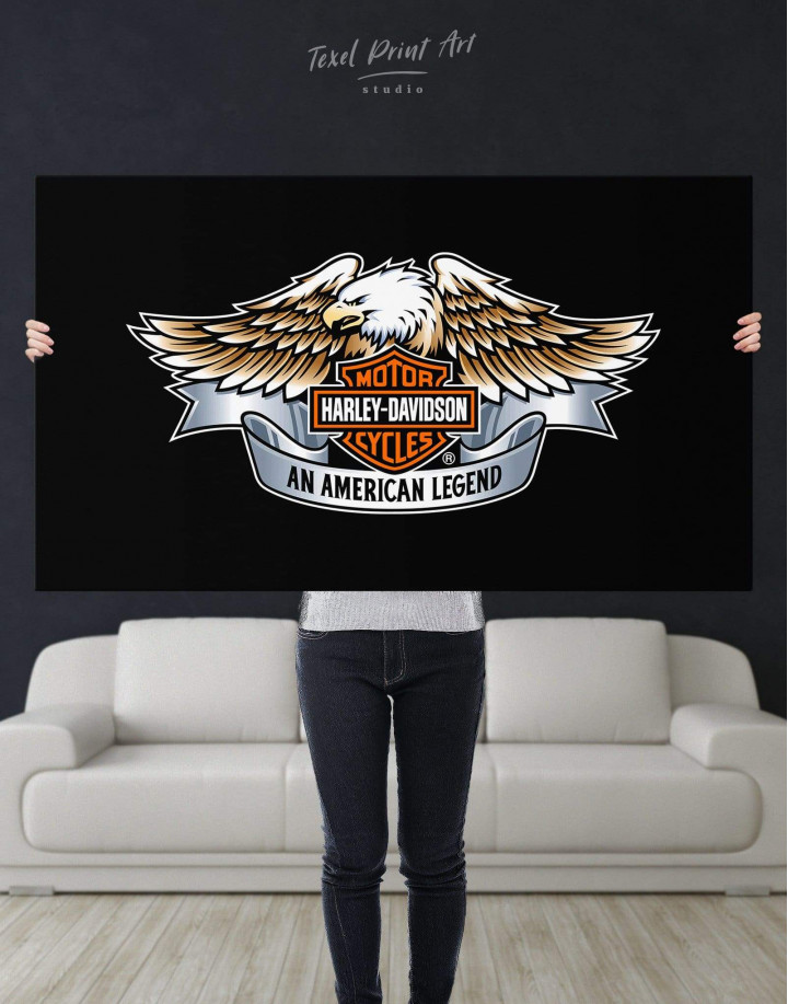 Harley Davidson Logo Canvas Wall Art - Image 4