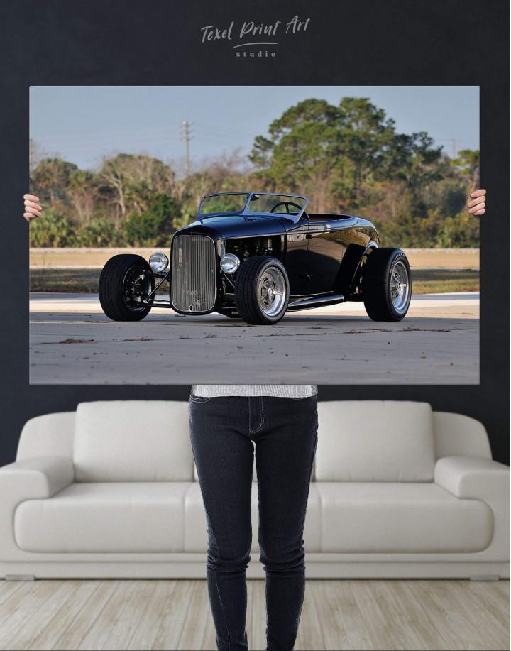 Black Vintage Automobile Canvas Wall Art - Image 2