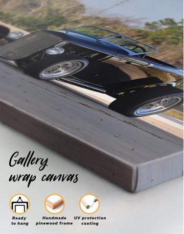 Black Vintage Automobile Canvas Wall Art - image 1