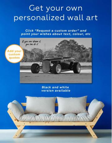 Black Vintage Automobile Canvas Wall Art - image 5