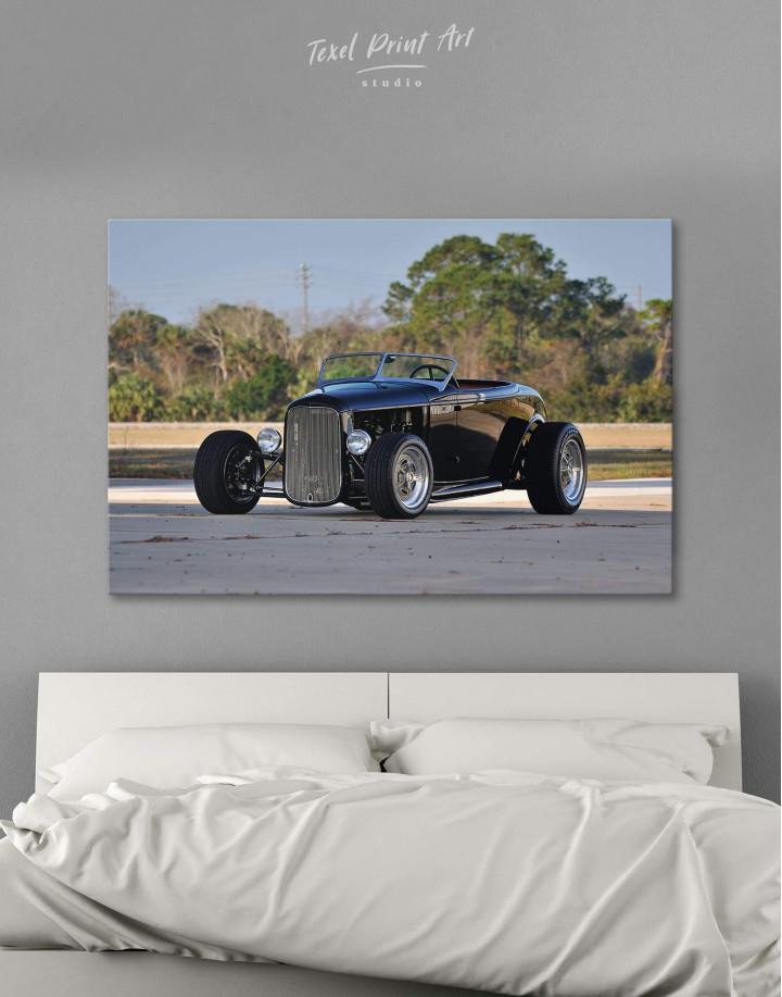 Black Vintage Automobile Canvas Wall Art - Image 0