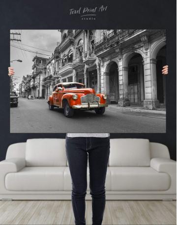 Red Retro Car Canvas Wall Art - image 4