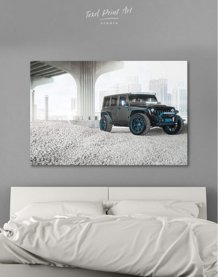 Black Jeep Wrangler Canvas Wall Art - Image 0
