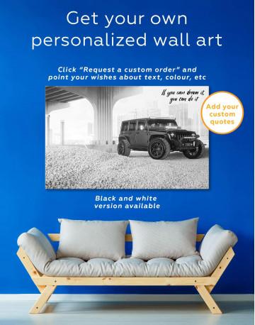 Black Jeep Wrangler Canvas Wall Art - image 1