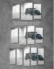Black Jeep Wrangler Canvas Wall Art - Image 2
