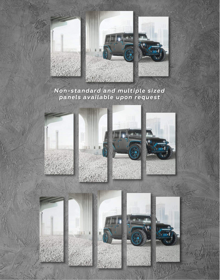 Black Jeep Wrangler Canvas Wall Art - Image 2