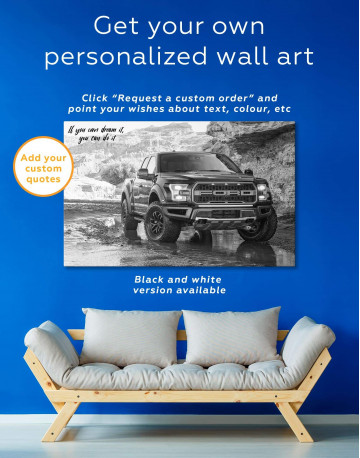 2017 Ford F-150 Raptor Canvas Wall Art - image 5
