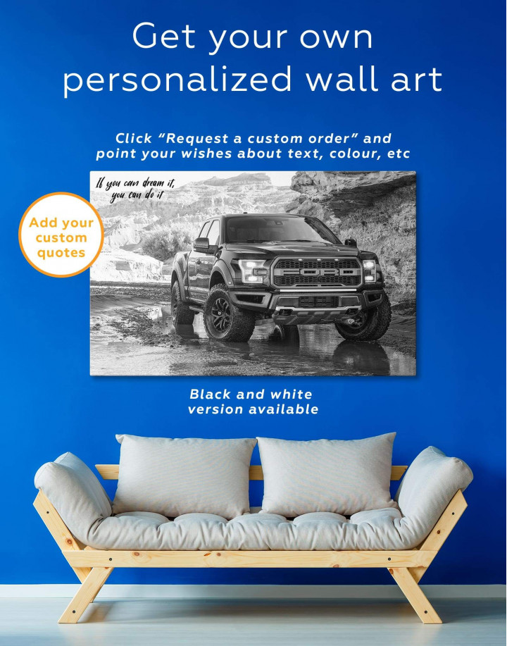 2017 Ford F-150 Raptor Canvas Wall Art - Image 1