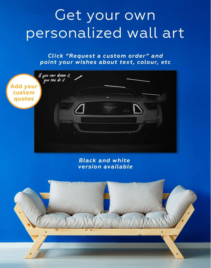 Ford Mustang RTR Canvas Wall Art - Image 1