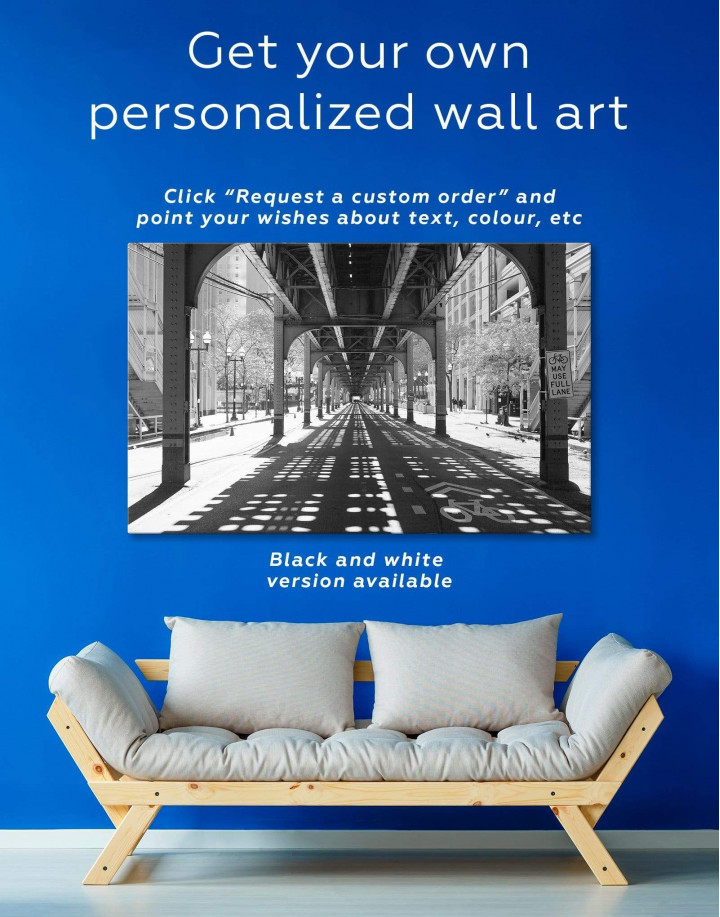Chicago View Canvas Wall Art - Image 1