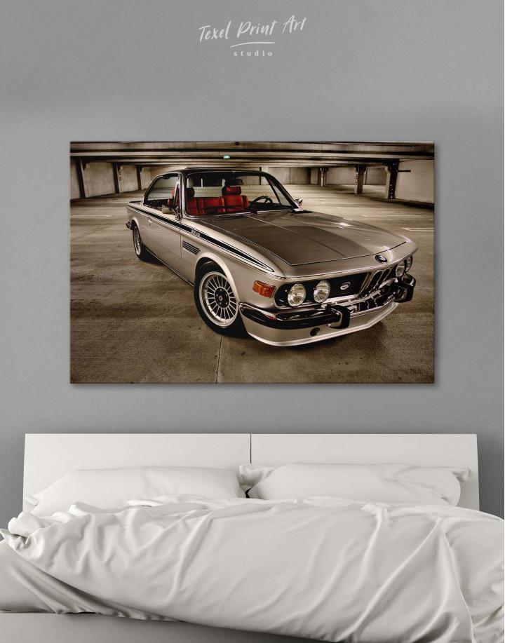 Retro BMW CSL E9 Canvas Wall Art - Image 0