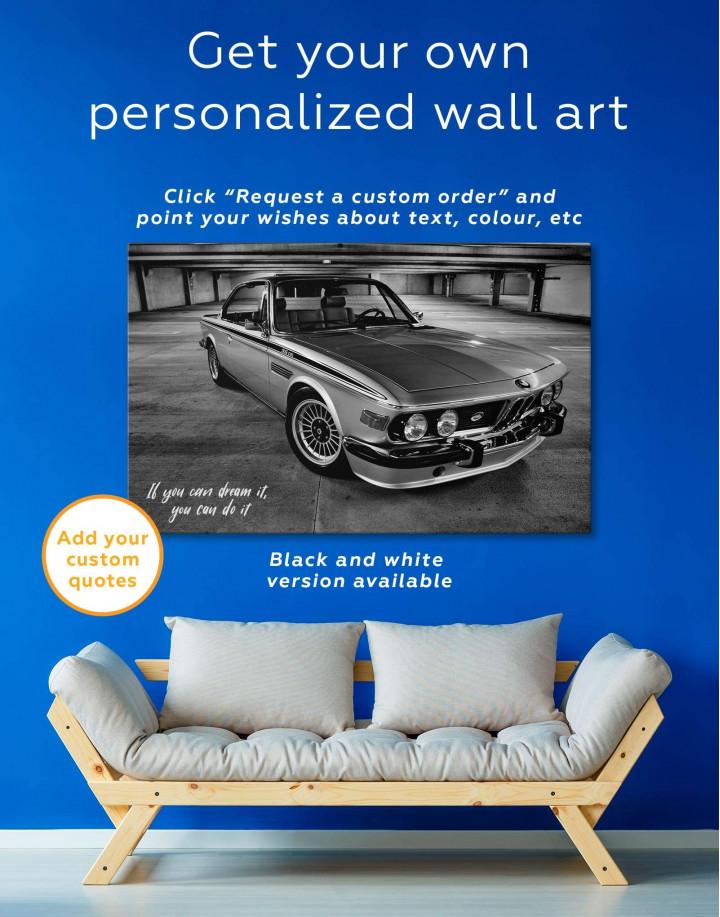 Retro BMW CSL E9 Canvas Wall Art - Image 5