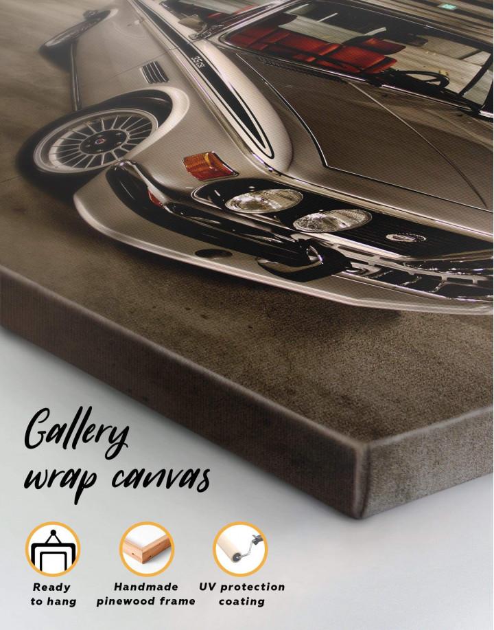 Retro BMW CSL E9 Canvas Wall Art - Image 1
