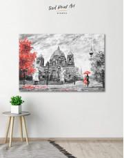 Black and White Berlin Romantic Canvas Wall Art