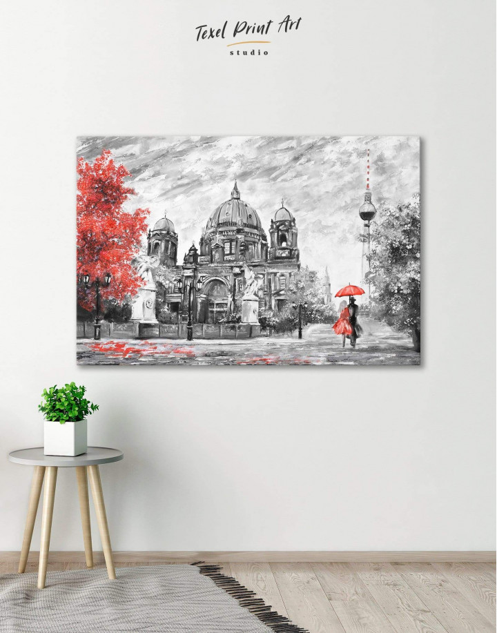 Black and White Berlin Romantic Canvas Wall Art - Image 0
