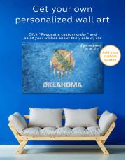 Oklahoma Flag Canvas Wall Art - Image 1