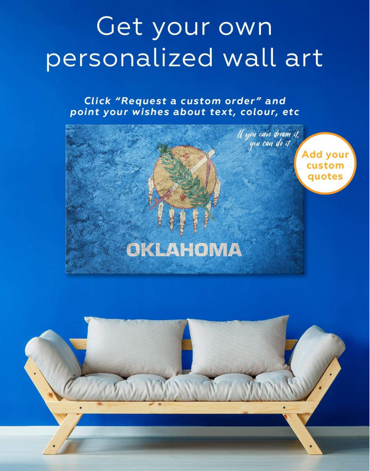 Oklahoma Flag Canvas Wall Art - Image 1