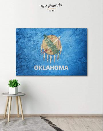 Oklahoma Flag Canvas Wall Art