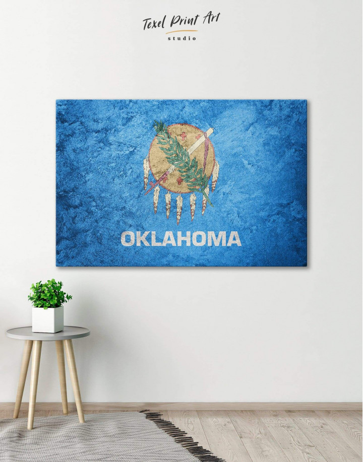 Oklahoma Flag Canvas Wall Art - Image 0