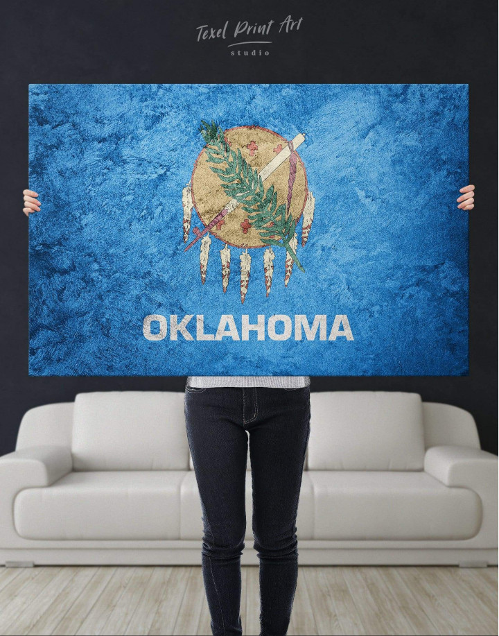 Oklahoma Flag Canvas Wall Art - Image 4
