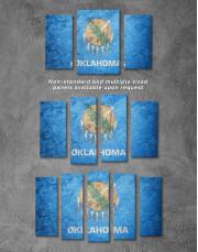 Oklahoma Flag Canvas Wall Art - Image 2