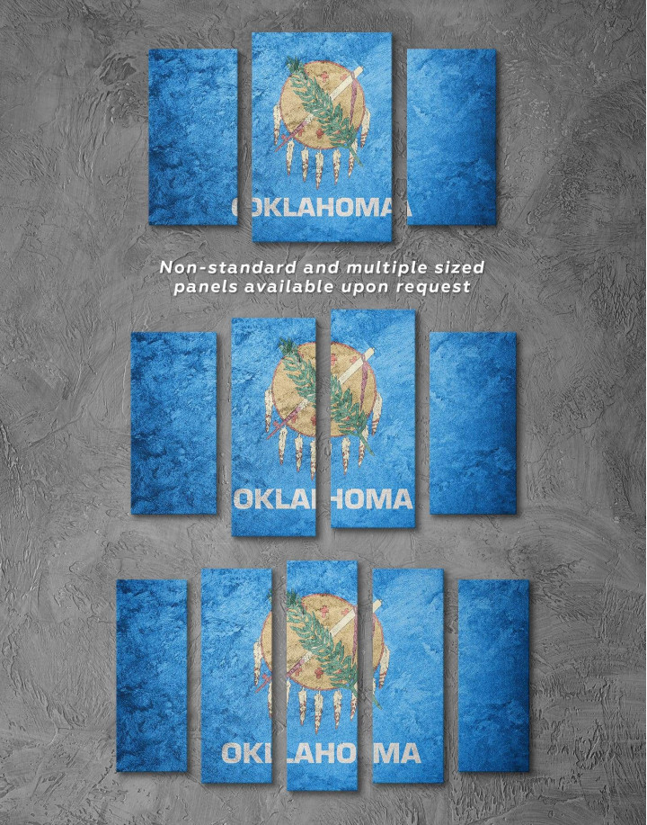 Oklahoma Flag Canvas Wall Art - Image 2