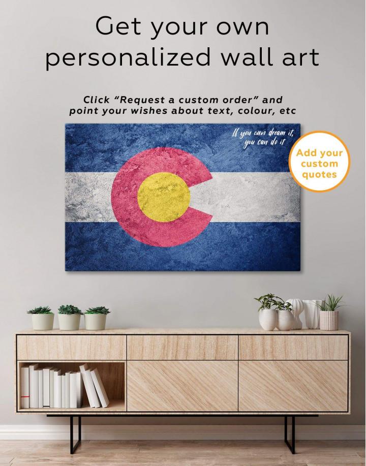 Colorado Flag Canvas Wall Art - Image 1