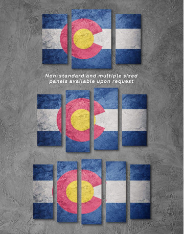 Colorado Flag Canvas Wall Art - image 2